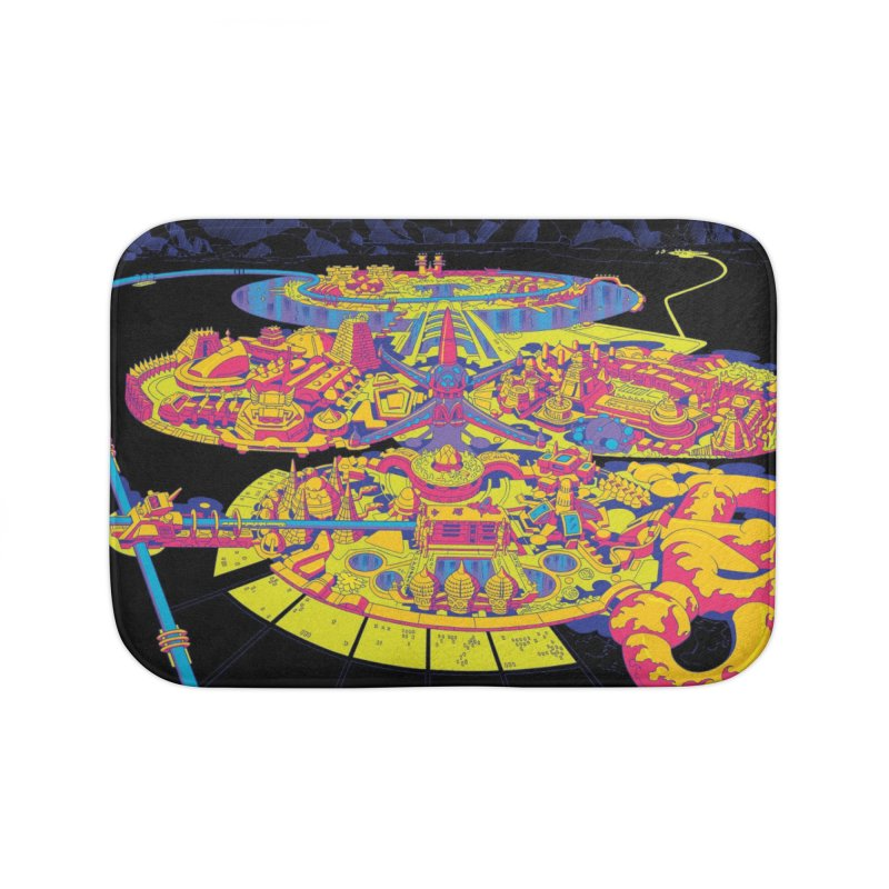 Science Fiction Land - Jack Kirby and Barry Geller Home Bath Mat by Heavy Metal Magazine