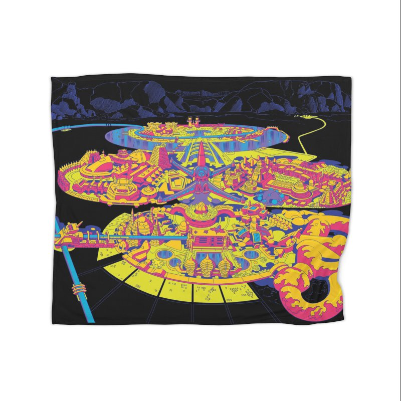 Science Fiction Land - Jack Kirby and Barry Geller Home Blanket by Heavy Metal Magazine