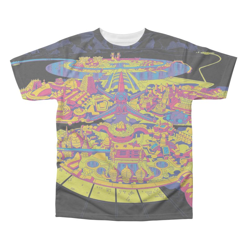 Science Fiction Land - Jack Kirby and Barry Geller Men's Triblend All Over Print by Heavy Metal Magazine