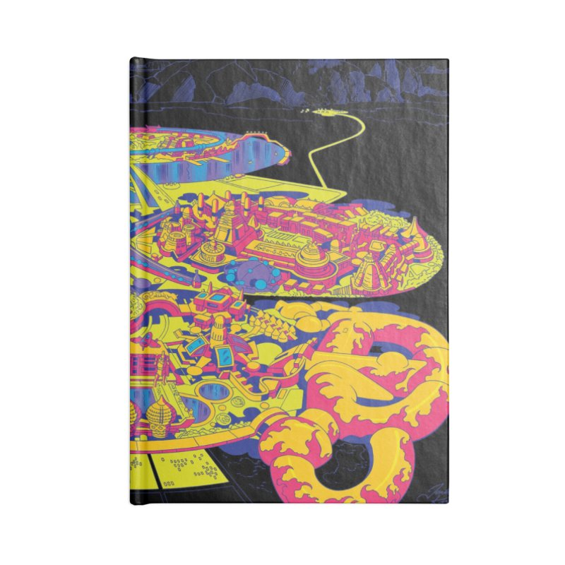 Science Fiction Land - Jack Kirby and Barry Geller Accessories Lined Journal Notebook by Heavy Metal Magazine