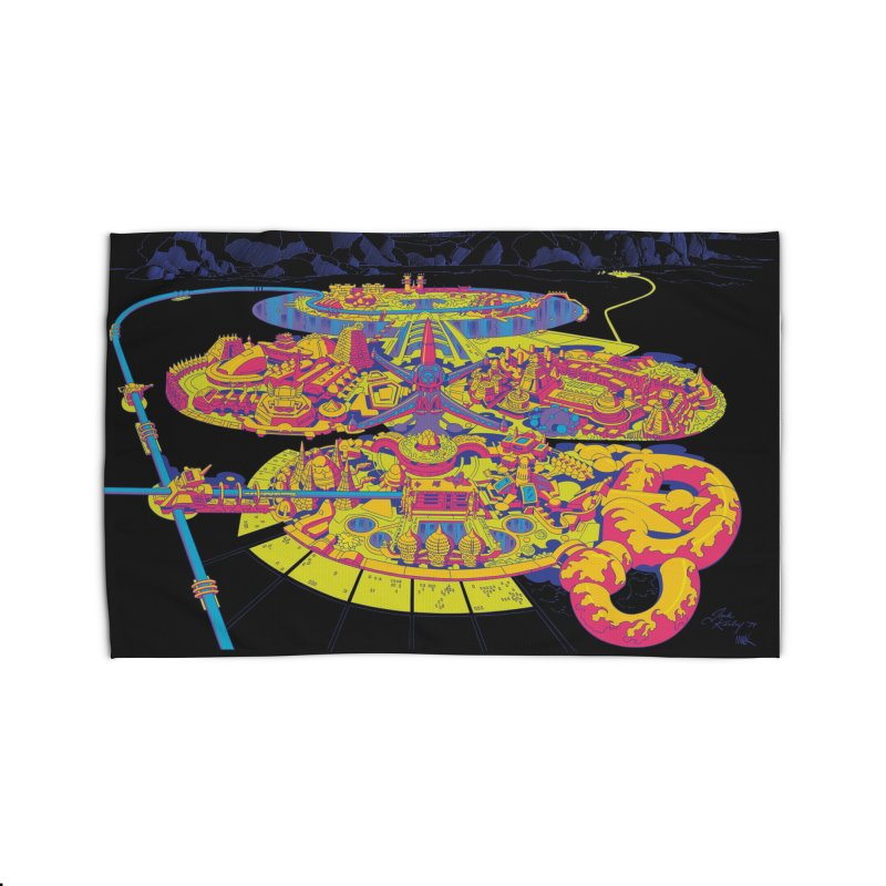 Science Fiction Land - Jack Kirby and Barry Geller Home Rug by Heavy Metal Magazine
