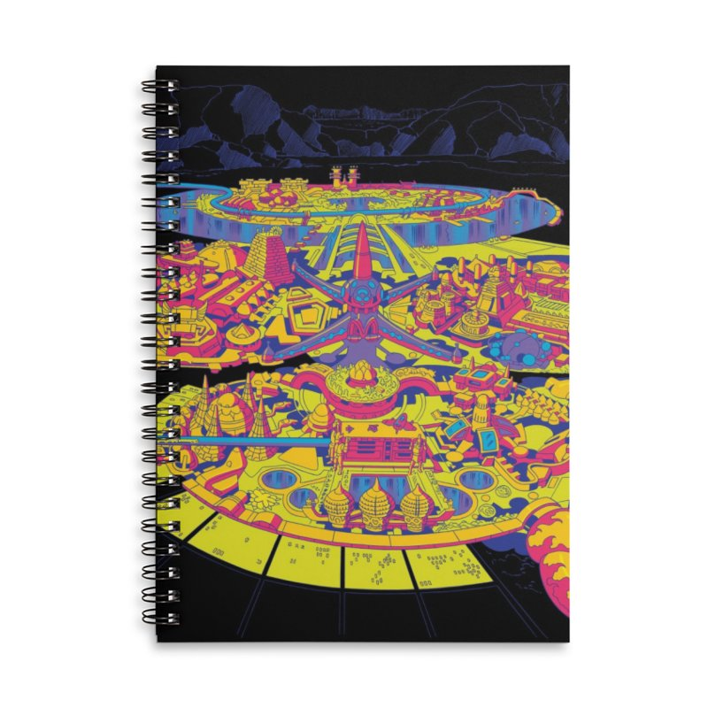Science Fiction Land - Jack Kirby and Barry Geller Accessories Lined Spiral Notebook by Heavy Metal Magazine