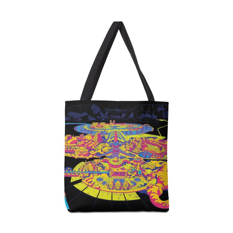 Science Fiction Land - Jack Kirby and Barry Geller Accessories Tote Bag Bag by Heavy Metal Magazine