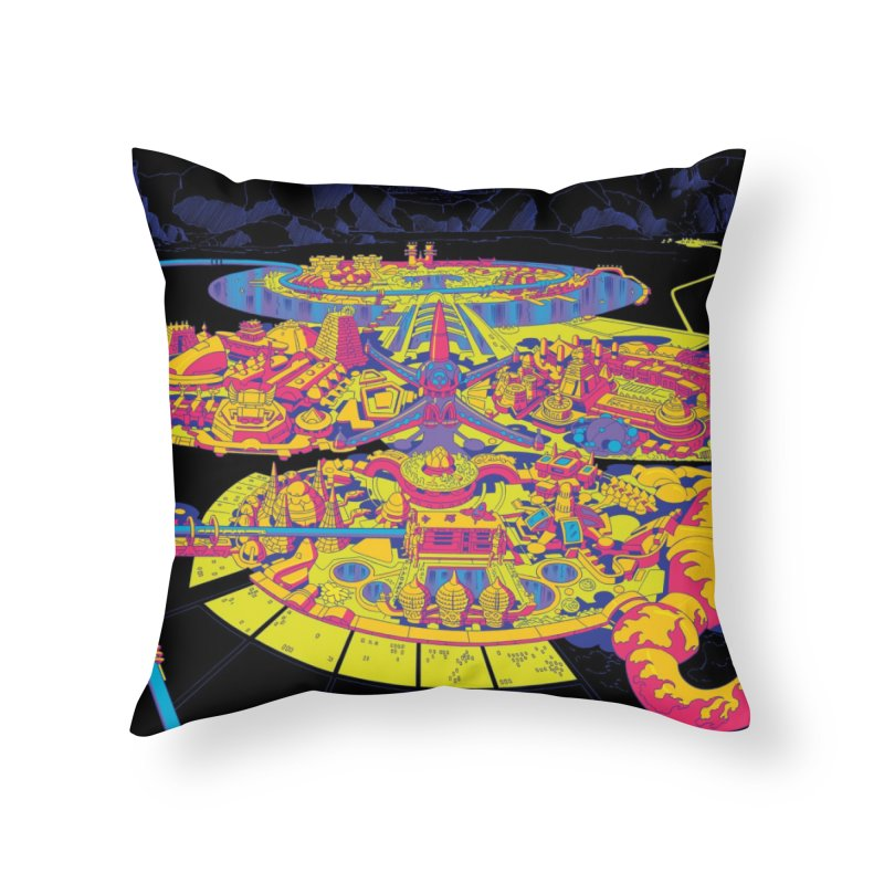 Science Fiction Land - Jack Kirby and Barry Geller Home Throw Pillow by Heavy Metal Magazine