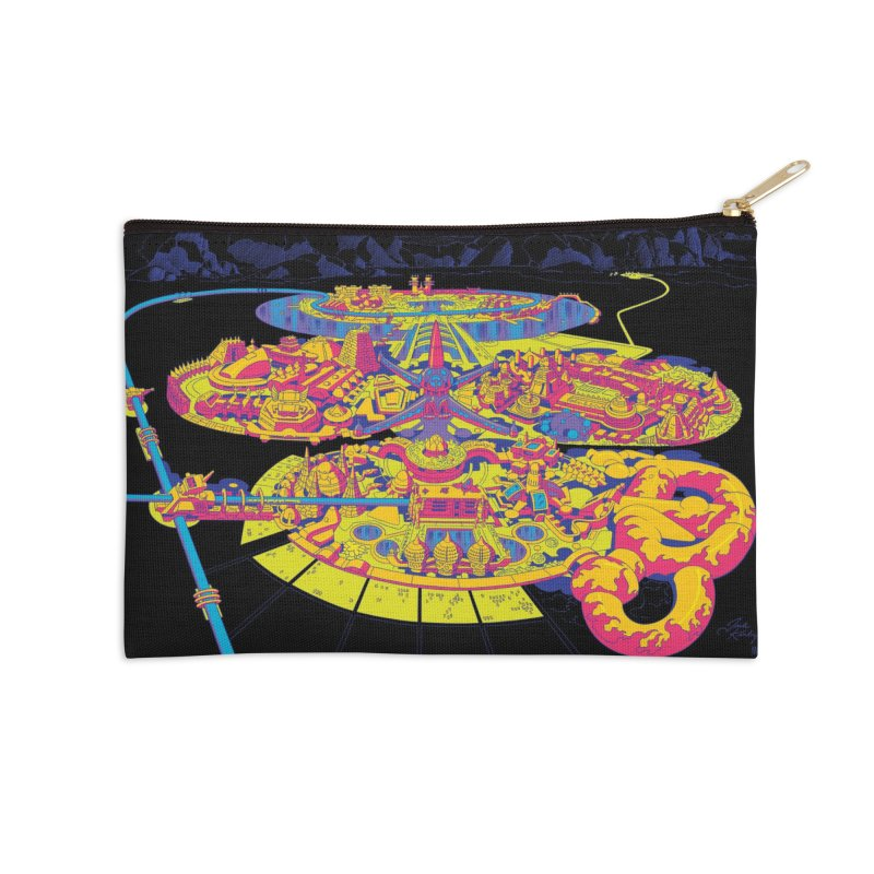 Science Fiction Land - Jack Kirby and Barry Geller Accessories Zip Pouch by Heavy Metal Magazine