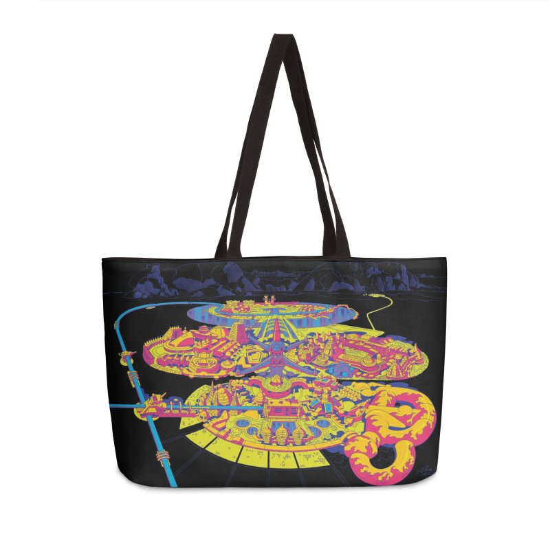 Science Fiction Land - Jack Kirby and Barry Geller Accessories Weekender Bag Bag by Heavy Metal Magazine