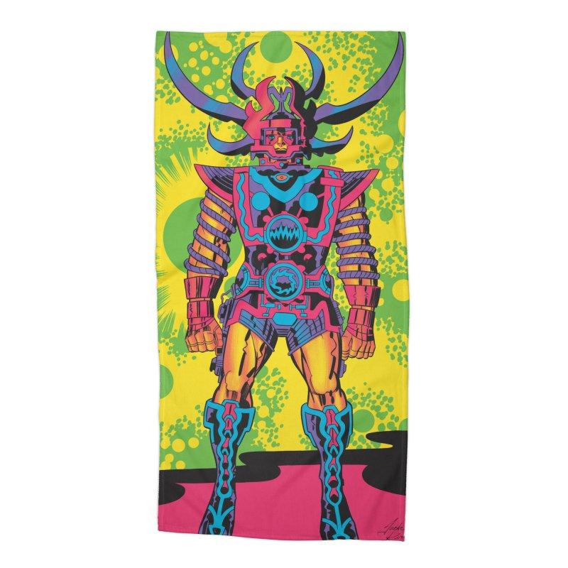 Sam - Jack Kirby and Barry Geller Accessories Beach Towel by Heavy Metal Magazine