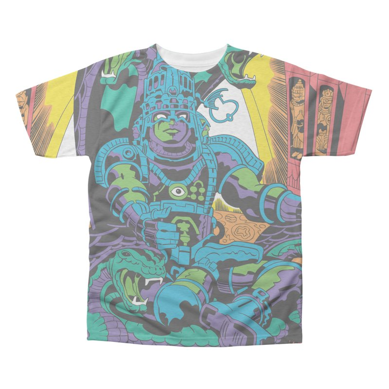 Royal Chambers of Brahma - Jack Kirby and Barry Geller Men's All-Over Print Triblend T-Shirt by Heavy Metal Magazine