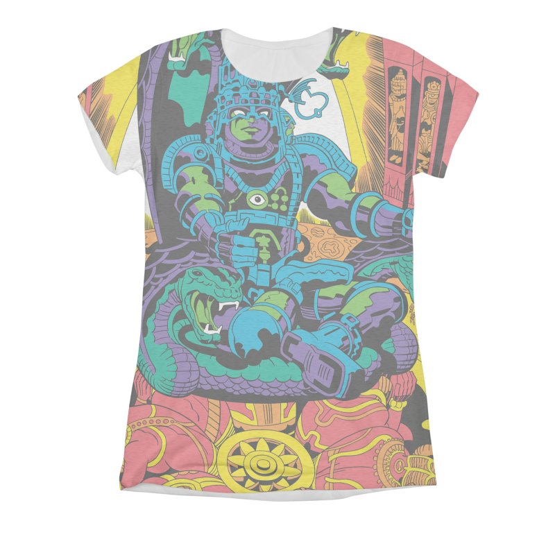 Royal Chambers of Brahma - Jack Kirby and Barry Geller Women's All-Over Print Triblend T-Shirt by Heavy Metal Magazine