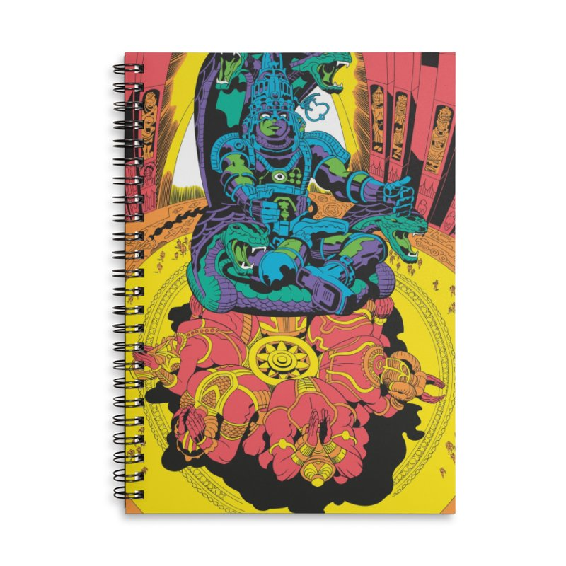 Royal Chambers of Brahma - Jack Kirby and Barry Geller Accessories Lined Spiral Notebook by Heavy Metal Magazine