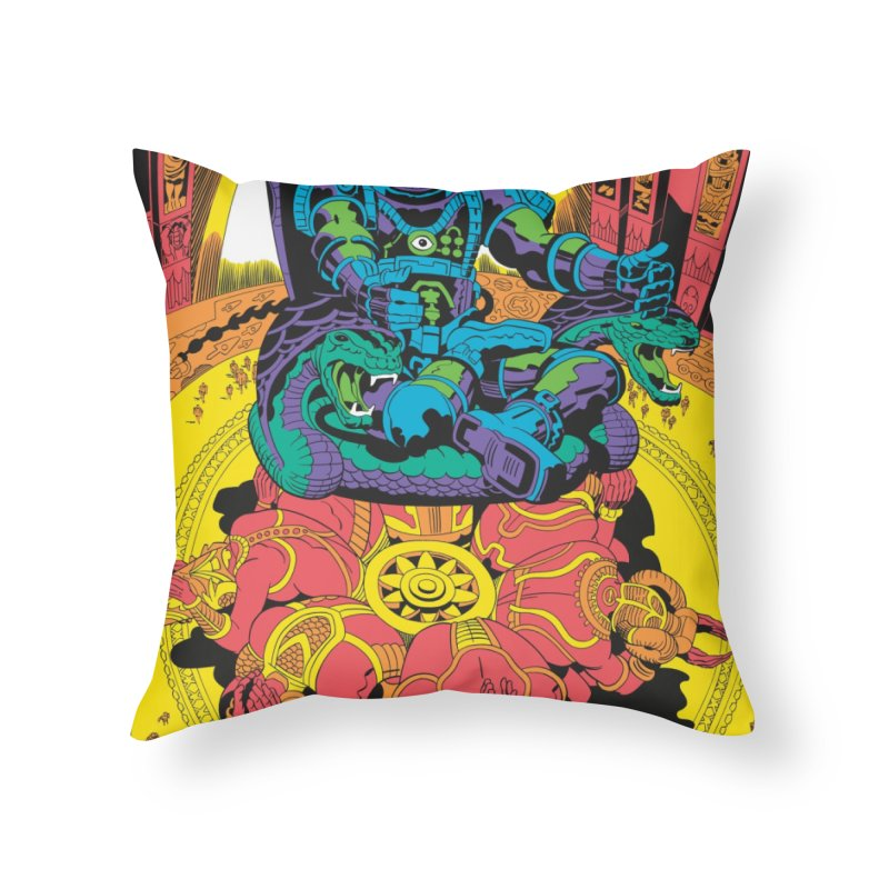 Royal Chambers of Brahma - Jack Kirby and Barry Geller Home Throw Pillow by Heavy Metal Magazine