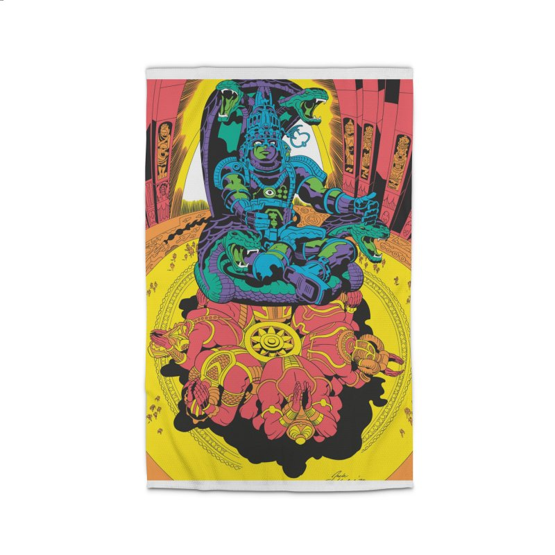 Royal Chambers of Brahma - Jack Kirby and Barry Geller Home Rug by Heavy Metal Magazine