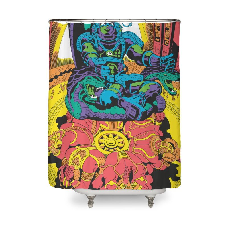 Royal Chambers of Brahma - Jack Kirby and Barry Geller Home Shower Curtain by Heavy Metal Magazine