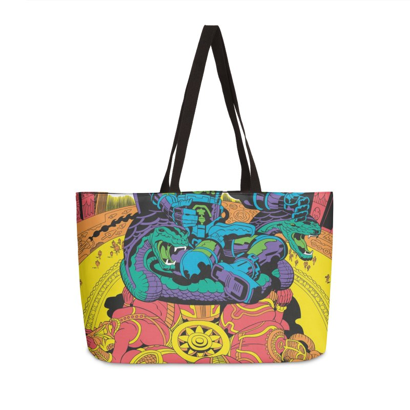 Royal Chambers of Brahma - Jack Kirby and Barry Geller Accessories Weekender Bag Bag by Heavy Metal Magazine