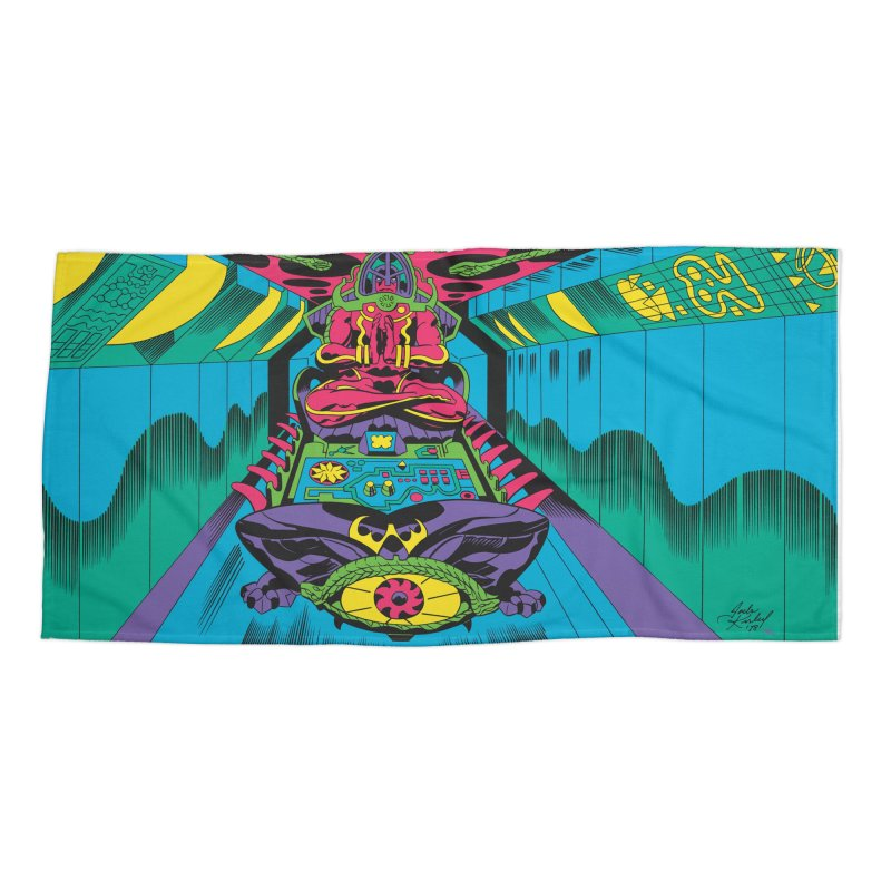 Jet Tube Transporter - Jack Kirby and Barry Geller Accessories Beach Towel by Heavy Metal Magazine
