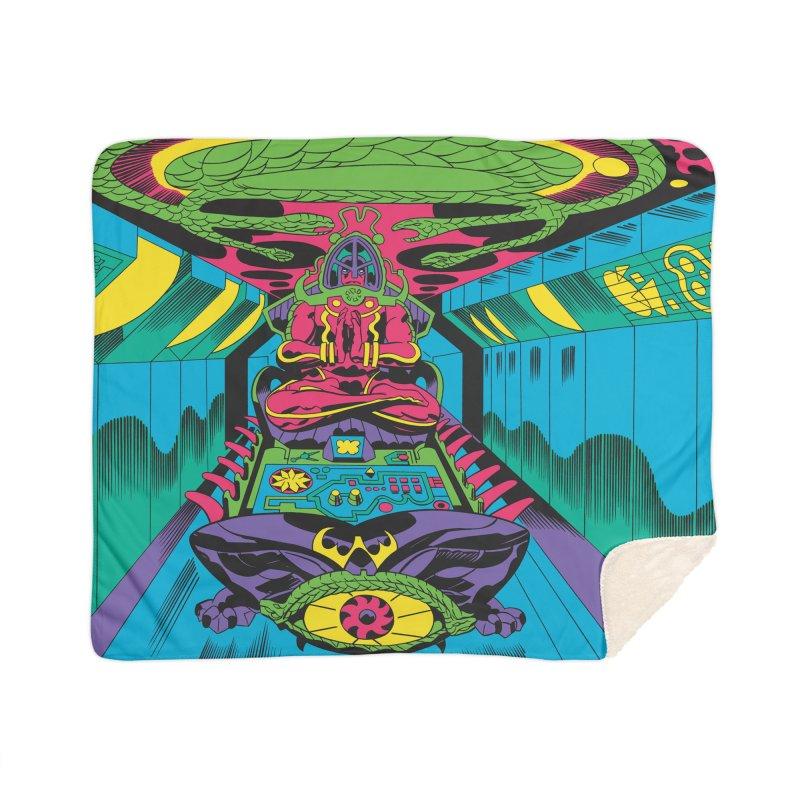 Jet Tube Transporter - Jack Kirby and Barry Geller Home Sherpa Blanket Blanket by Heavy Metal Magazine
