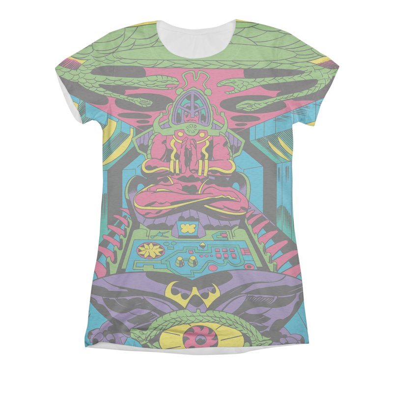 Jet Tube Transporter - Jack Kirby and Barry Geller Women's All-Over Print Triblend T-Shirt by Heavy Metal Magazine