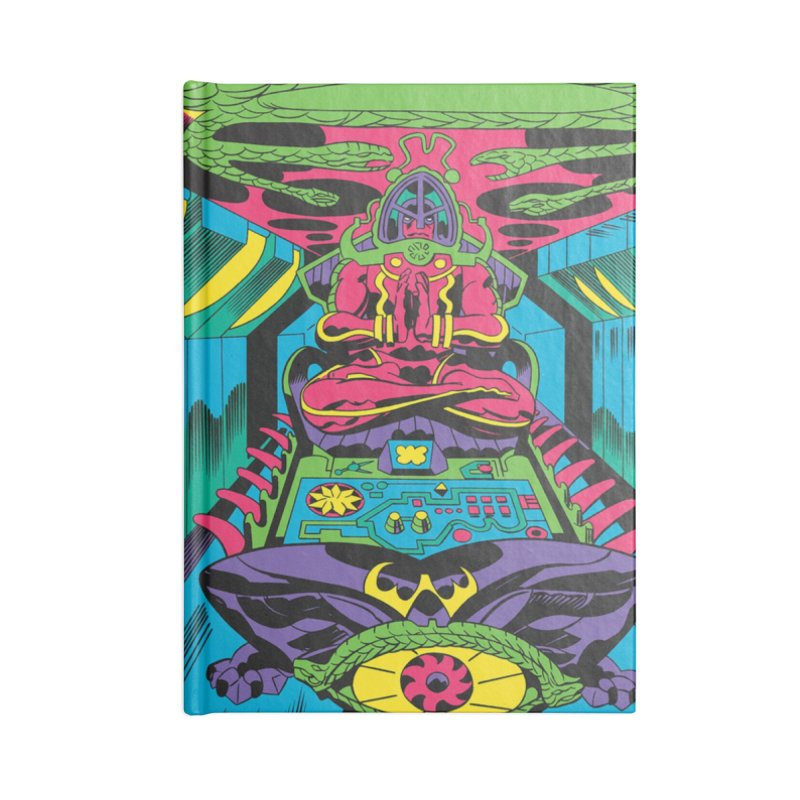 Jet Tube Transporter - Jack Kirby and Barry Geller Accessories Lined Journal Notebook by Heavy Metal Magazine