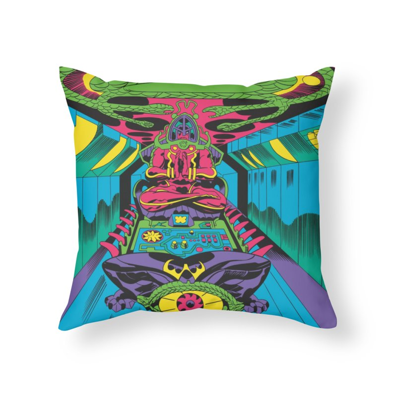 Jet Tube Transporter - Jack Kirby and Barry Geller Home Throw Pillow by Heavy Metal Magazine