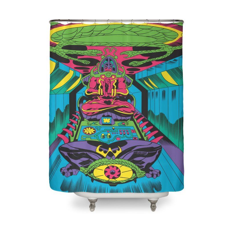 Jet Tube Transporter - Jack Kirby and Barry Geller Home Shower Curtain by Heavy Metal Magazine