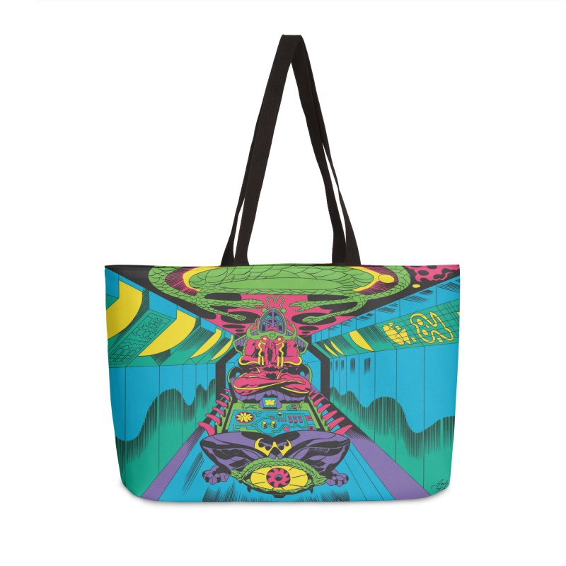 Jet Tube Transporter - Jack Kirby and Barry Geller Accessories Weekender Bag Bag by Heavy Metal Magazine