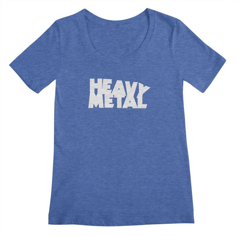 Heavy Metal Women's Regular Scoop Neck by Heavy Metal Magazine