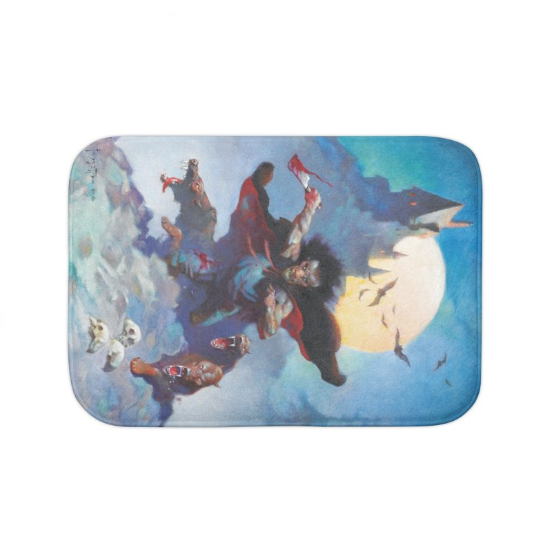 WOLVES NIGHT Home Bath Mat by Heavy Metal Magazine