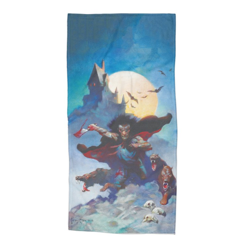 WOLVES NIGHT Accessories Beach Towel by Heavy Metal Magazine