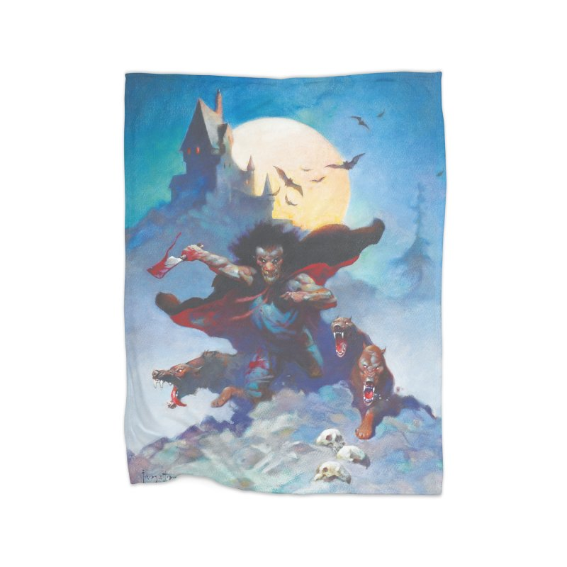 WOLVES NIGHT Home Fleece Blanket Blanket by Heavy Metal Magazine