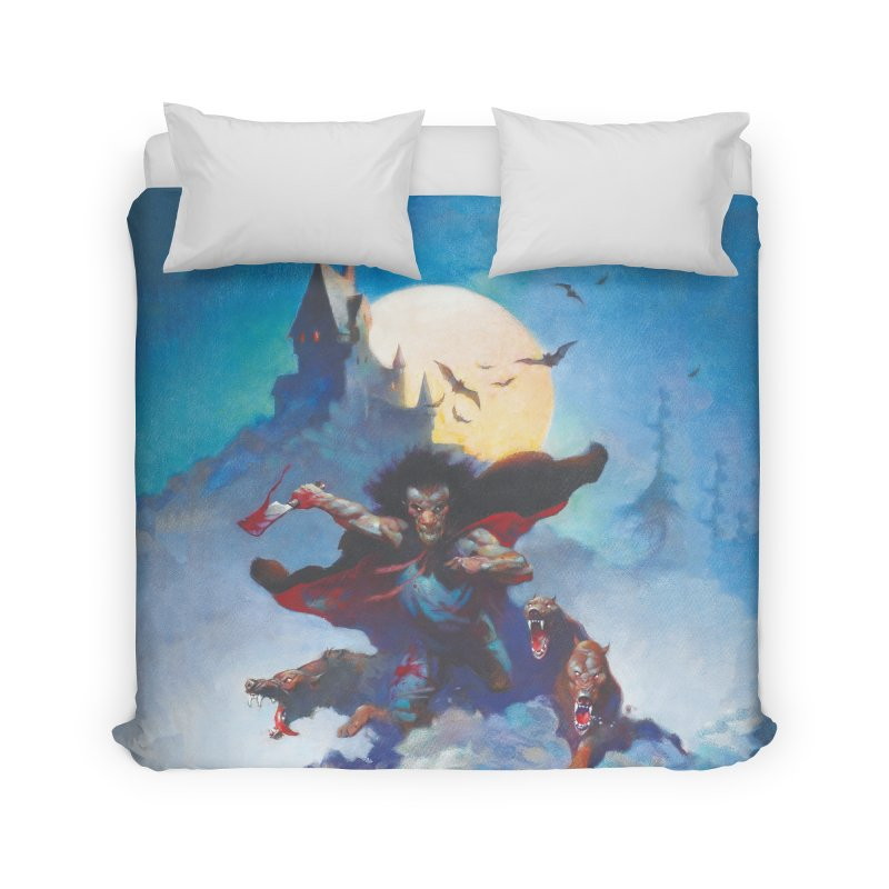 WOLVES NIGHT Home Duvet by Heavy Metal Magazine