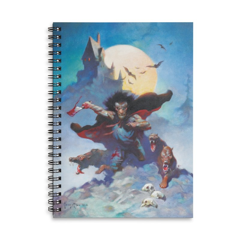 WOLVES NIGHT Accessories Lined Spiral Notebook by Heavy Metal Magazine
