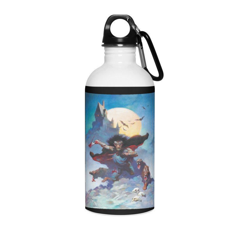 WOLVES NIGHT Accessories Water Bottle by Heavy Metal Magazine