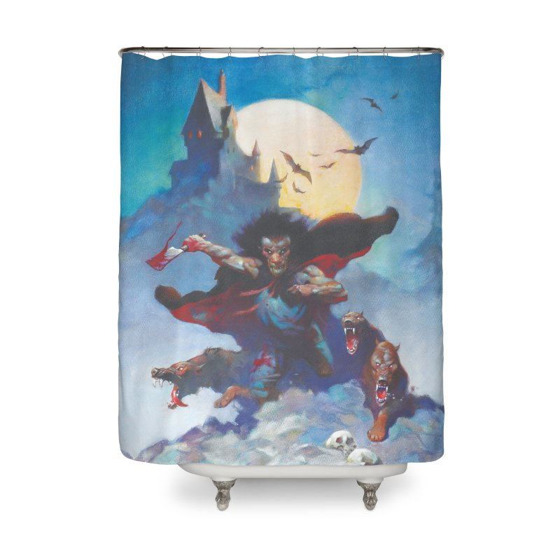 WOLVES NIGHT Home Shower Curtain by Heavy Metal Magazine