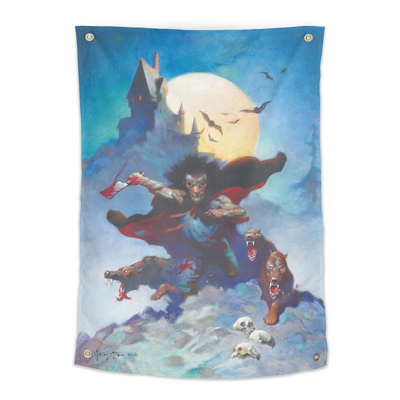 WOLVES NIGHT Home Tapestry by Heavy Metal Magazine