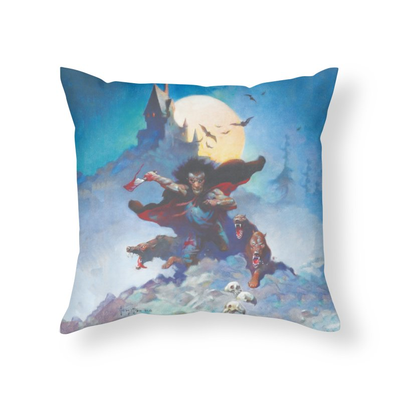 WOLVES NIGHT Home Throw Pillow by Heavy Metal Magazine
