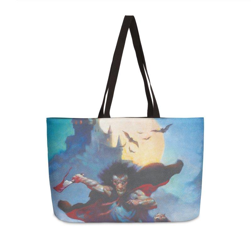 WOLVES NIGHT Accessories Weekender Bag Bag by Heavy Metal Magazine