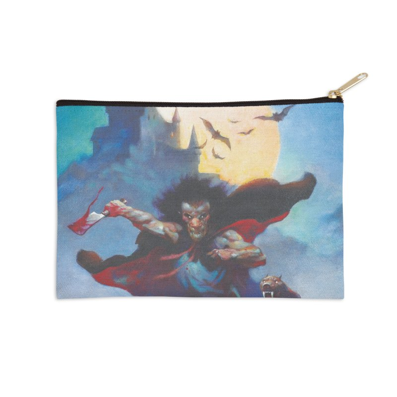 WOLVES NIGHT Accessories Zip Pouch by Heavy Metal Magazine