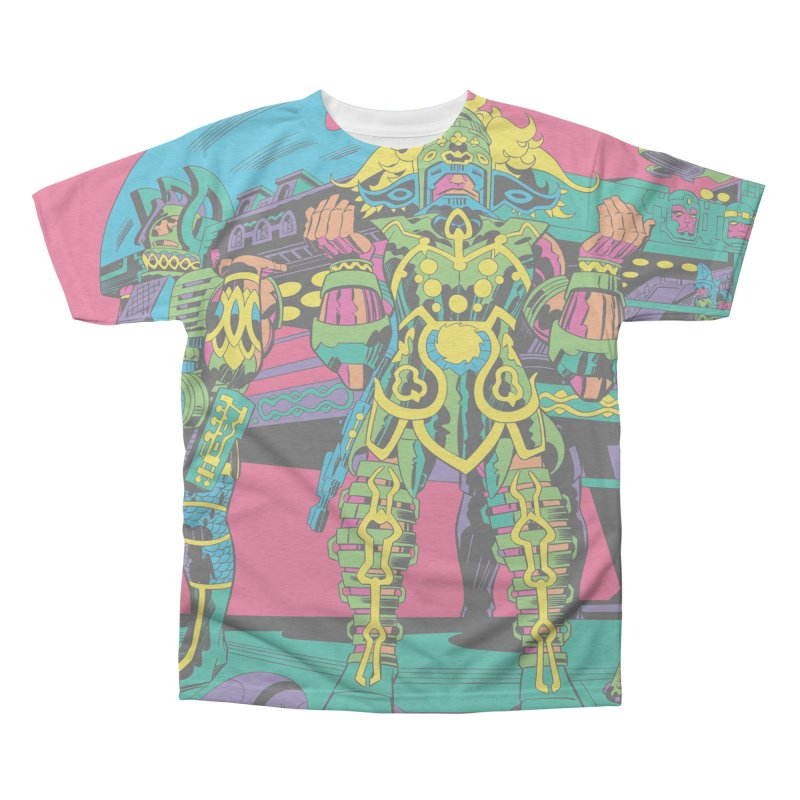 Terminal of the Gods - Jack Kirby and Barry Geller Men's All-Over Print Triblend T-Shirt by Heavy Metal Magazine