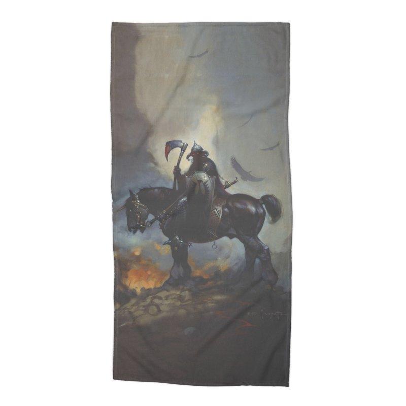 Death Dealer Accessories Beach Towel by Heavy Metal Magazine