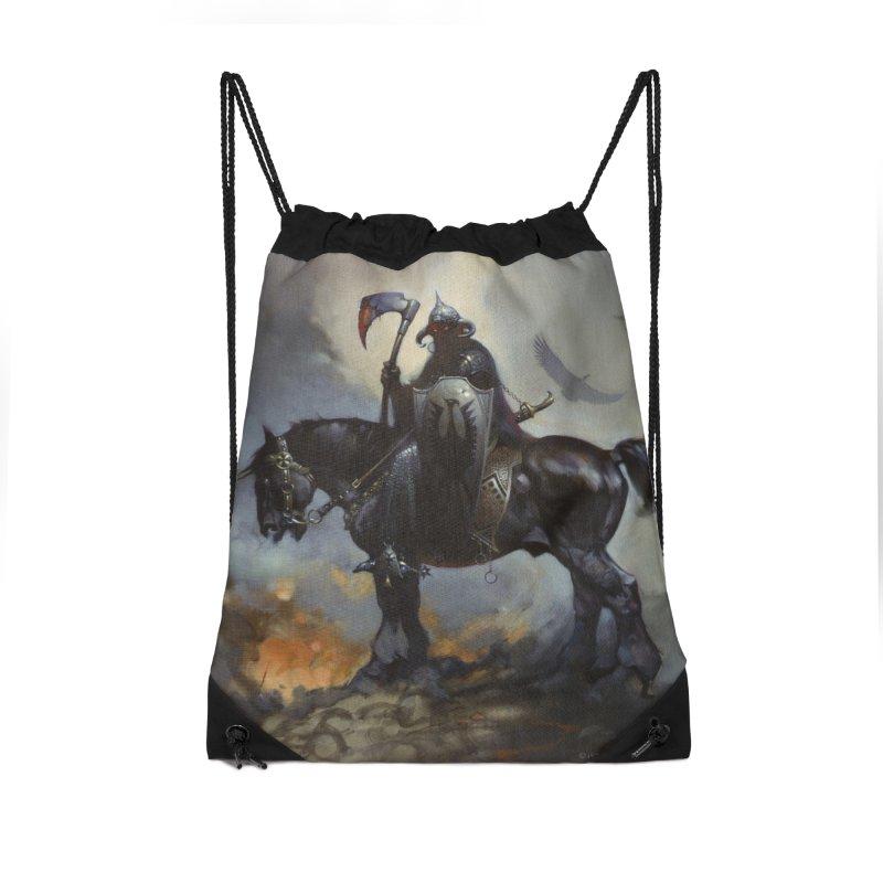 Death Dealer Accessories Drawstring Bag Bag by Heavy Metal Magazine