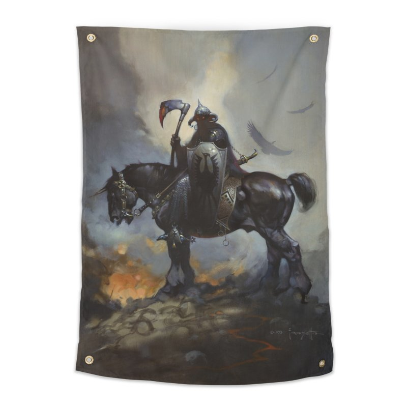 Death Dealer Home Tapestry by Heavy Metal Magazine