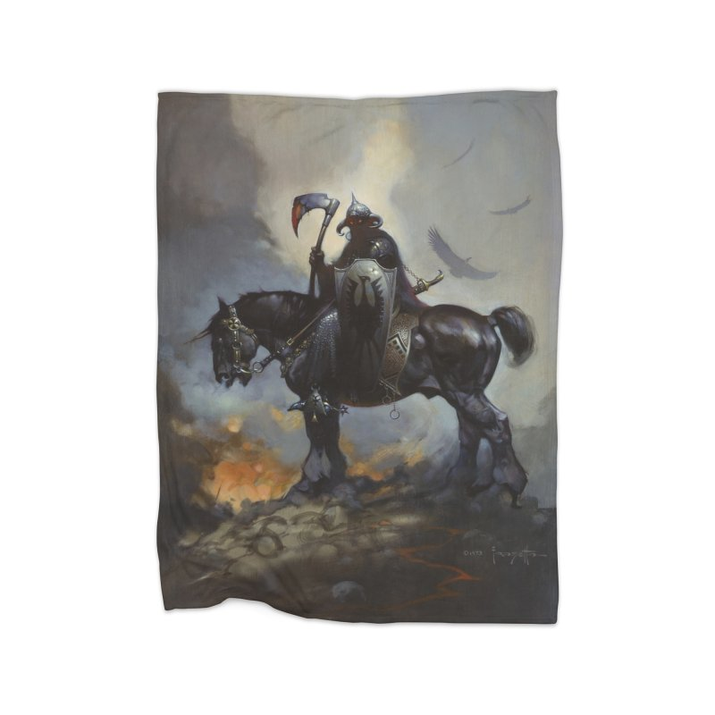 Death Dealer Home Fleece Blanket Blanket by Heavy Metal Magazine