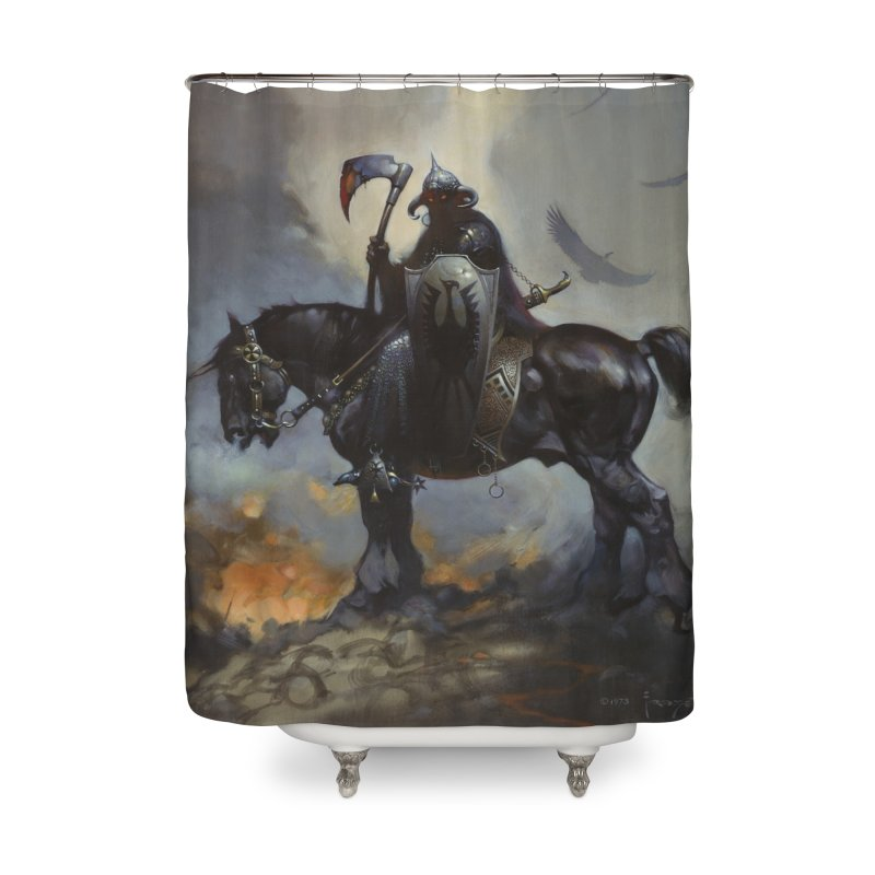 Death Dealer Home Shower Curtain by Heavy Metal Magazine