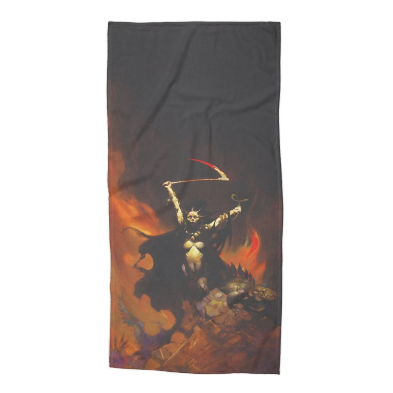 WOMEN WITH A SCYTHE Accessories Beach Towel by Heavy Metal Magazine
