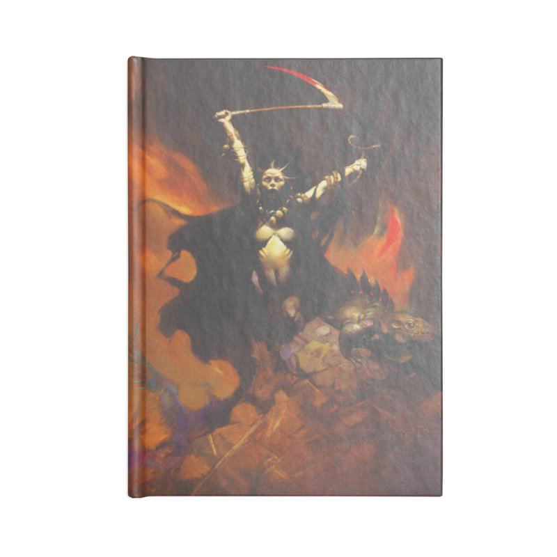 WOMEN WITH A SCYTHE Accessories Lined Journal Notebook by Heavy Metal Magazine