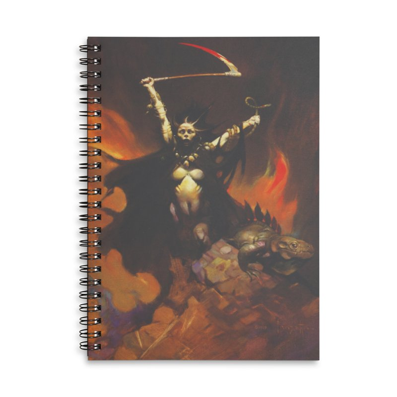 WOMEN WITH A SCYTHE Accessories Lined Spiral Notebook by Heavy Metal Magazine