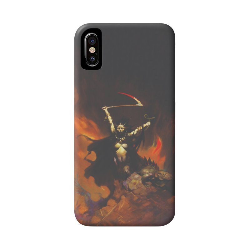 WOMEN WITH A SCYTHE Accessories Phone Case by Heavy Metal Magazine