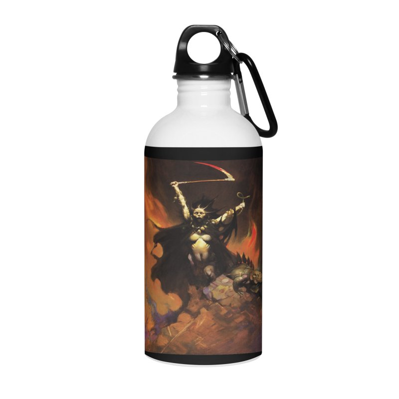 WOMEN WITH A SCYTHE Accessories Water Bottle by Heavy Metal Magazine