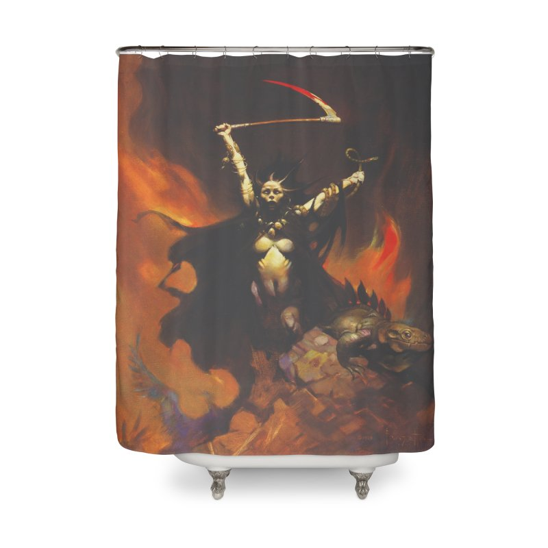 WOMEN WITH A SCYTHE Home Shower Curtain by Heavy Metal Magazine