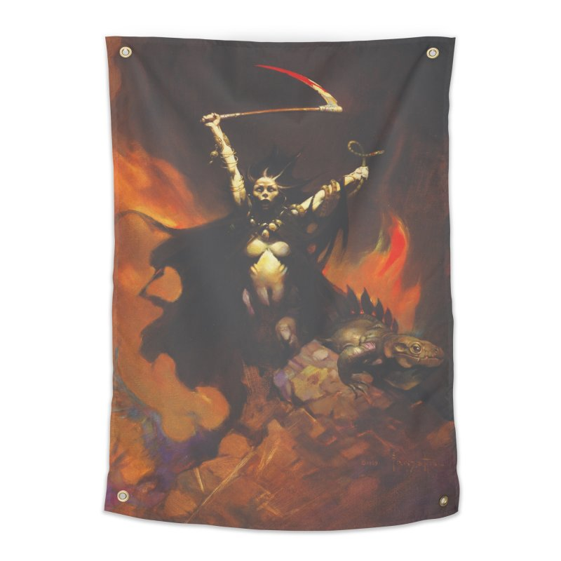 WOMEN WITH A SCYTHE Home Tapestry by Heavy Metal Magazine